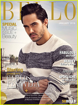Carlos PenaVega Shares Smouldering 'Bello' Mag Cover