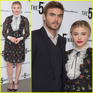 Chloe Moretz Steps Out for '5th Wave' London Photo Call With Alex Roe