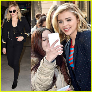 Chloe Moretz Promotes 'The 5th Wave' in Paris Ahead of Premiere