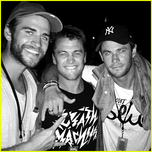 Liam Hemsworth Enjoys a Night Out with the 'Best Brothers'
