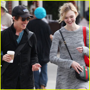 Elle Fanning Shares Laughs With Boyfriend Zalman Band