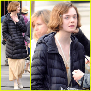 Elle Fanning Gets Her Makeup Done on 'Live By Night' Set