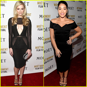 Greer Grammer Celebrates The Golden Globes 2016 with Gina Rodriguez