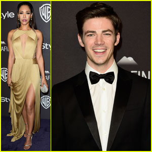 Candice Patton & Grant Gustin Party With InStyle After Golden Globes 2016
