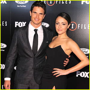 Italia Ricci Supports Fiance Robbie Amell At 'The X-Files' Premiere