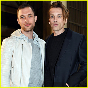 Jamie Campbell Bower Meets Up with Ed Skrein at Milan Fashion Week!