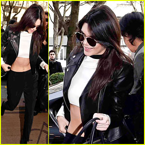 Kendall Jenner Trades Her Couture Gown for a Crop Top After Fashion Show
