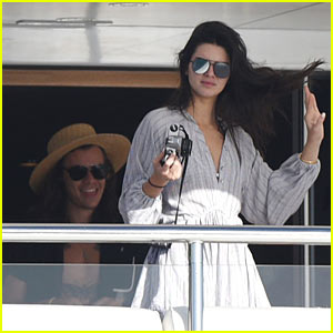 Kendall Jenner Snaps Pictures of Harry Styles Aboard Yacht in St. Barts