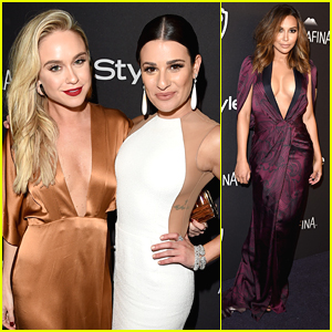 Lea Michele Has 'Glee' Reunion with Becca Tobin & Naya Rivera