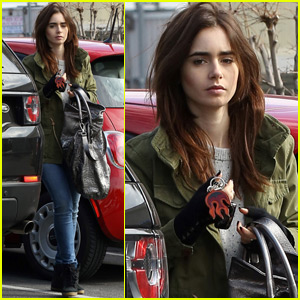 Lily Collins & Halston Sage Have a Fun Night Out
