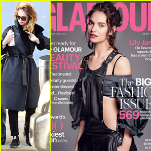 Lily James Covers 'Glamour UK' March 2016 - See The Cover Here!