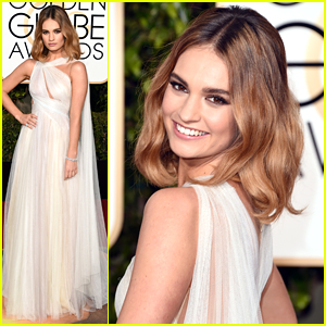 Lily James Turns Into Cinderella For Golden Globes 2016