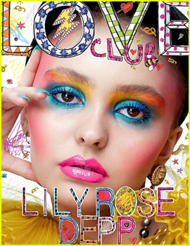 Lily-Rose Depp Wears Bold Blue Eye Shadow on 'Love' Mag's New Cover!