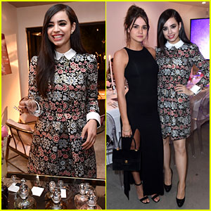 Maia Mitchell & Sofia Carson Have a Scent-Sational Time at JJJ's 'Star Darlings' Dinner!