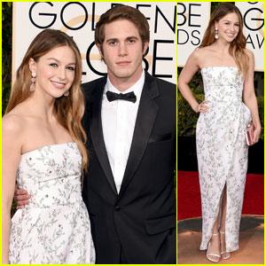 Melissa Benoist & Blake Jenner Couple Up for Golden Globes 2016