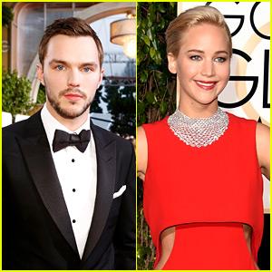 Nicholas Hoult & Jennifer Lawrence Had a Reunion at Golden Globes 2016!