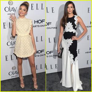 Sarah Hyland Hits Up Elle's Women in TV Dinner With Nina Dobrev