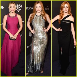 Olivia Holt & Bella Thorne Shine At InStyle's Golden Globes After Party 2016
