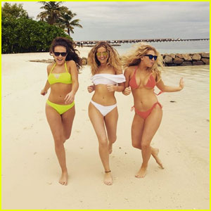 Perrie Edwards Channels 'Baywatch' in Cute White Bikini!