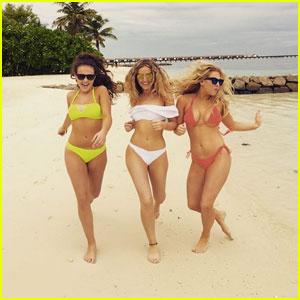 Perrie Edwards Channels 'Baywatch' in Cute White Bikini!