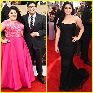Rico Rodriguez Takes Sister Raini & Ariel Winter To SAG Awards 2016