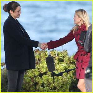 Shailene Woodley Shakes Hands With Reese Witherspoon on 'Big Little Lies' Set
