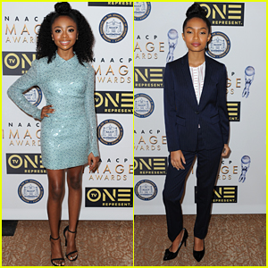 Skai Jackon Hits Up NAACP Awards Nominees Luncheon with Yara Shahidi