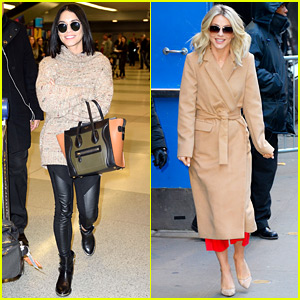 Vanessa Hudgens & Julianne Hough Get Ready for 'Grease: Live' From NYC!