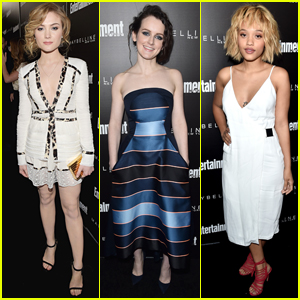 Skyler Samuels & Kiersey Clemons are Pretty in White for EW's Pre-SAG Event