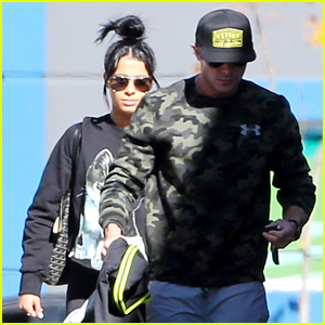 Zac Efron & Girlfriend Sami Miro Stay Fit At the Gym