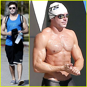 Zac Efron Shows Off Buff Shirtless Body While Preparing for 'Baywatch' Role!