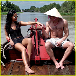 Zac Efron Rides a Boat Shirtless with Sami Miro!