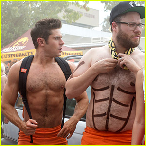 Zac Efron Goes Shirtless in Skimpy Shorts for 'Neighbors 2' Pics!