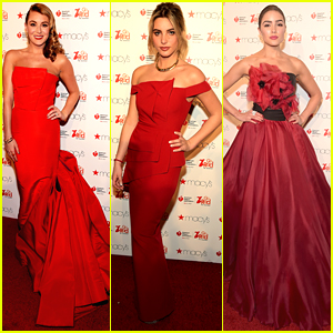 Alexa PenaVega Wows in Red Ball Gown For Go Red For Women NYFW Show