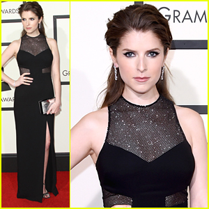 Anna Kendrick Reps 'Pitch Perfect 2' at Grammys 2016