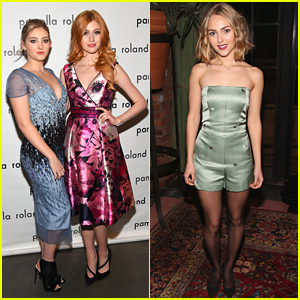 Willow Shields & AnnaSophia Robb Glam Up For Pamella Roland & Katie Ermilio Shows During NYFW