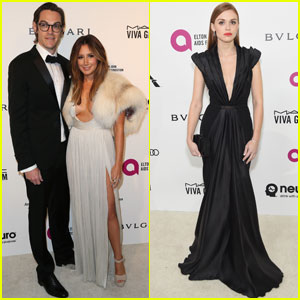 Ashley Tisdale & Holland Roden Take the Plunge at Elton John's Oscars 2016 Party