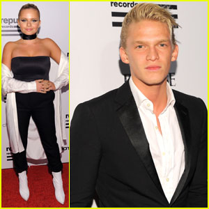 Cody & Alli Simpson Step Out for Grammys 2016 Party
