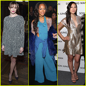Danielle Panabaker & Serayah Step Out For A Saturday Full of NYFW Shows