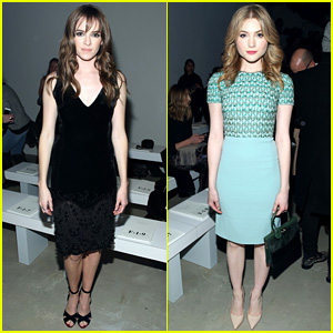 Danielle Panabaker & Skyler Samuels Sit Front Row at Fashion Week!