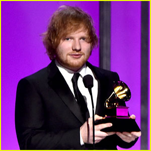 Ed Sheeran Wins His First Grammys for 'Thinking Out Loud'