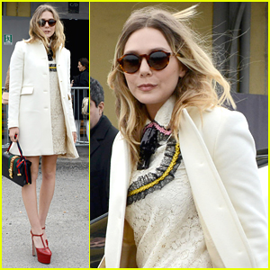 Elizabeth Olsen Heads To Milan Fashion Week For the Gucci Show