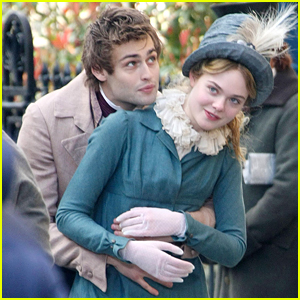 Elle Fanning & Douglas Booth Film Playful Scenes For 'A Storm In The Stars'
