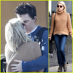 Emma Roberts & Evan Peters Kiss & Cuddle Close After Lunch!