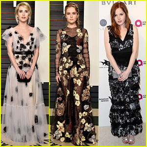 Emma Roberts & Zoey Deutch Have a Night Out at Vanity Fair's Oscars 2016 Party!