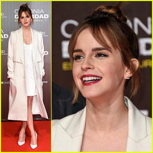 Emma Watson Debuts Bangs For 'Colonia' Premiere in Berlin