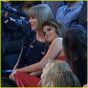 Watch Taylor Swift & Selena Gomez on the Grammys 2016 Audience Cam! (Video)