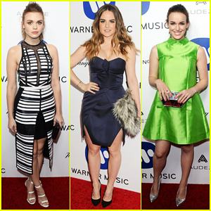 Holland Roden & JoJo Step Out For Warner Music Group's Grammy 2016 After Party!