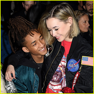 Sarah Snyder Sits on Boyfriend Jaden Smith's Lap for NYFW Show