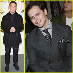 Jake Robinson & Colton Haynes Both Hit Up New York Men's Fashion Week
